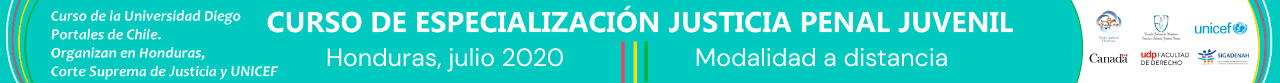 Curso de Especialización de Justicia Penal Juvenil en Honduras
